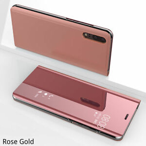 Flip Mirror Case For Samsung A40 A41 A50 A51 A70 71 A12 A32 A52 Clear View Cover