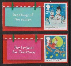 GB 2017 LS108 Christmas Smiler Sheet Set Of 2 Single Stamps (Labels Vary) MNH