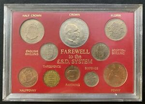 Farewell to the £.S.D Syetem ( 1955-1967 ) | UNC Plastic box minor broken