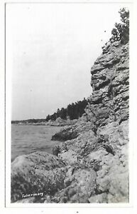Bruce County TOBERMARY ONTARIO black and white real photo postcard