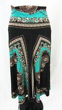 Womens Boho Equestrain Horse Slinky Jersey Modest Skirt size M