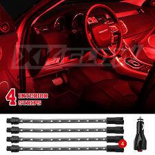 """4pc 8"""" Strips Car Under Body Interior Truck Bed Neon LED Lighting Light Kit Red"""