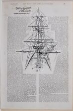1896 BOER WAR ERA ARTICLE STORY DRILL & EXERCISE IN THE NAVY