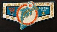 OA O-SHOT-CAW LODGE 265 BSA SOUTH FLORIDA COUNCIL 1996 NOAC GMY DOLPHIN FLAP