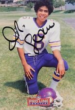 Junior (Jr). Seau Signed 1992 Pro Line Profiles Insert Card San Diego Chargers