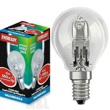 6 ENERGY SAVING DIMMABLE GOLF LIGHT LAMP BULBS SES E14 SCREW CAP 60w EQUIVALENT