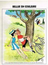 Publicité Advertising 1972 Jean Bellus en Couleurs