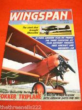 WINGSPAN # 29 - FOKKER TRIPLANE - MAY 1987
