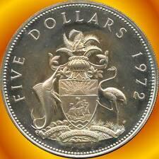 1972 Bahamas 5 Dollar Coin ( 42.12 Grams .925 Silver )