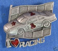 #1 Pewter Brooch 5002 Signed DaneCraft I Love Racing