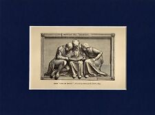 Antique matted print Instruct the ignorant / acts of mercy / John Flaxman 1891