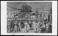1895 Antique Print - AUSTRIA IMPERIAL INSTITUTE GROUNDS STRAUSS BAND  (027)
