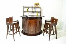 BAR furniture for Dolls 12 in 1:6 FR Barbie wooden PUB RESTAURANT