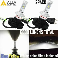 Alla Lighting H7 LED Headlight Bulb High Low Beam Lamp Replacement,White,Blue,2x
