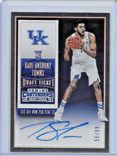2015-16 PANINI CONTENDERS KARL ANTHONY TOWNS DRAFT TICKET ROOKIE SUTO FOIL 55/99