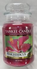 Yankee Candle PINK HIBISCUS Large Jar 22 Oz Housewarmer New Wax Floral