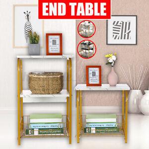 Sofa Side End Table Storage Shelf Living Room Bedroom Single/Double Laye bb