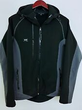 AR497 Men Helly Hansen WorkWear Black Soft Shell Waterproof Jacket Size M