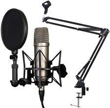 Rode NT1-A Set Kondensator Mikrofon + KEEPDRUM NB35 Gelenkarm Stativ