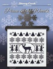 PEACE IN THE WOODS SAMPLER-CROSS STITCH CHART-STONEY CREEK