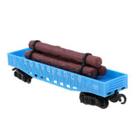 1:87 HO Scale Freight Car Train Railway Carriage Model Compartment Car Toy E