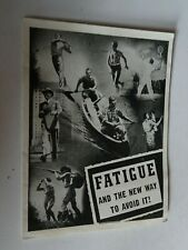 1939 Knox Gelatin Advertising Booklet Fatigue And The New Way To Avoid It