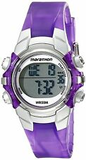 Ladies Timex Marathon Indiglo Digital Alarm Purple Rubber Sports Watch T5K816