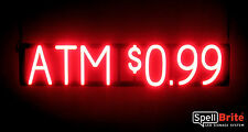 SpellBrite Ultra-Bright ATM $0.99 Sign Neon look LED performance