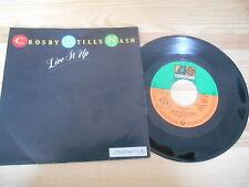 """7"""" Pop Crosby Stills, Nash & Young - Live It Up / Chuck's Lament ATLANTIC"""