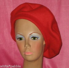 Handmade Beret - Fleece - Red - One size fits most