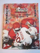 1996 TEXAS VS OKLAHOMA - COTTON BOWL - OFFICIAL FOOTBALL GAME PROGRAM - TUB FP