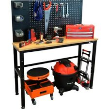 TOOLPRO Workbench - Wood Top Pegboard Back 1330mm 500kg