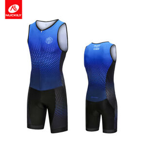 Triathlon Sleeveless Jersey Cycling Running Swimsuit Breathable Jumpsuit Jersey