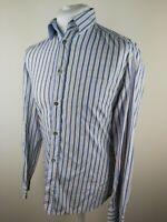 Mens D&G Dolce Gabbana Shirt Blue Stripe 48 Medium 40 Chest