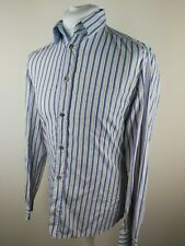 Mens D&G Dolce Gabbana Shirt Blue Stripe 48 Medium 40 Chest