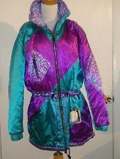 Vintage Edelweiss Ski Jacket Size Large Womens shiny satin!