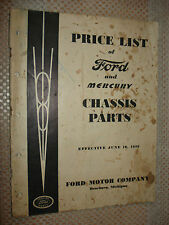 1939 Ford And Mercury Parts List Catalog Original Parts Numbers Price Book Rare