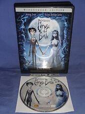 Corpse Bride (2005) DVD Tim Burton Johnny Depp Helena Bonham Carter Emily Watson