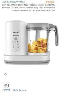 Baby Food Maker Baby food Processor Puree Blender Multi-Function Steamer Grinder