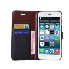 Leather Plain Card Pocket Mobile Phone Wallet Cases