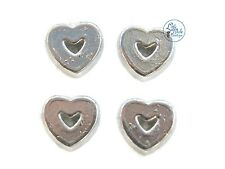 Silver Hollow Heart Floating Charm For Living Memory Locket Necklace Pendant