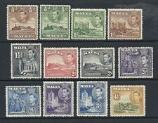 Mint Hinged George VI (1936-1952) Maltese Stamps