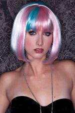 Perruque Rose avec mèche  bleu Modèle carré court avec frange Wig / Wigs  Pink -