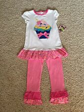 NWT From Dillard's Girls 4T Cup Cake Outfit(copper Key) Two Piece