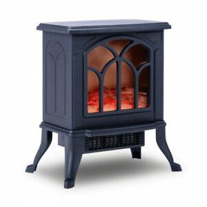 NEWTECK Chimenea Eléctrica Classic Flame,Calefactor CerámicoTermoventilador Llam