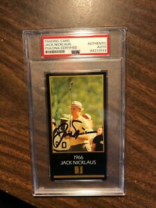 JACK NICKLAUS 1993 CHAMPIONS OF GOLF SIGNED AUTO CARD 1966 MASTERS