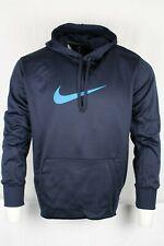 Nike Men's Dry Therma-Fit Swoosh Hoodie Sweatshirt Navy Size Large CI5794-459