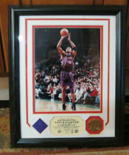 FRAMED HIGHLAND MINT VINCE CARTER COIN PHOTO GAME JERSEY PIECE JERSEY #15