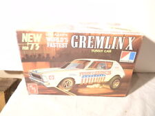 1973 AMT AMC GREMLIN X FUNNY CAR LOU AZAR ORIGINAL ISSUE MODEL KIT RARE