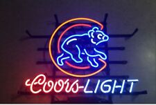 """Coors Light Chicago Cubs Shopping mall sign cafe neon decoration neon19x15"""""""